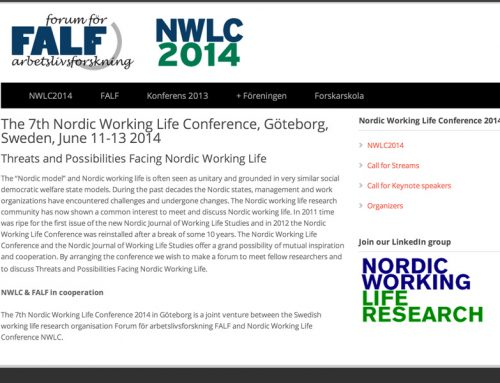 Nordic Work Life Conference 2014